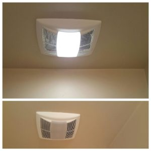 exhaust fan installation